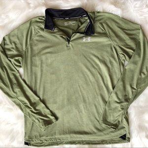 NWT Men's Under Armour 2XL Zip Pullover Sage Green